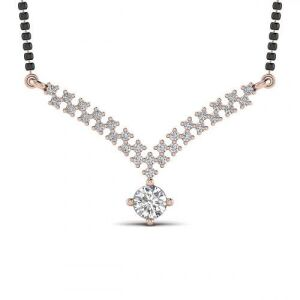 solitaire mangalsutra